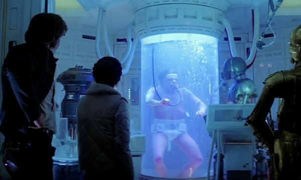 Luke Skywalker in a bacta tank in The Empire Strikes Back