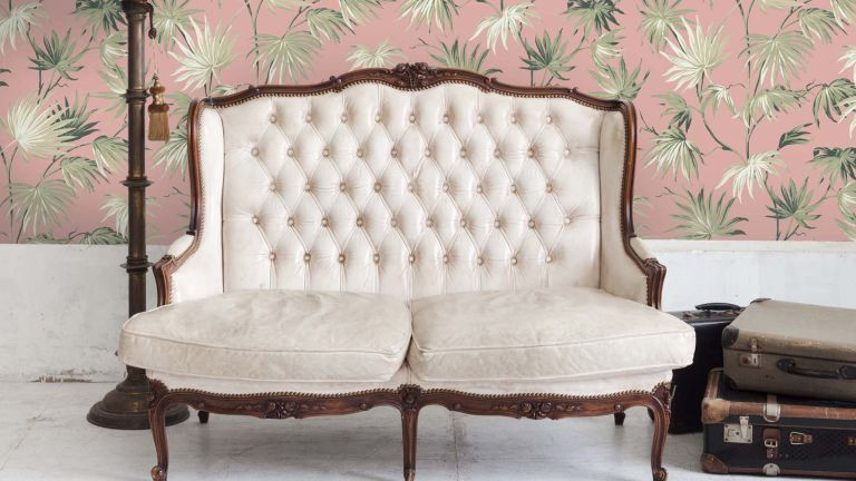 Wisteria wallpaper at Woodchip & Magnolia in a living room setting
