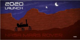 Mars 2020 launch poster