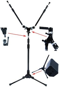 Full Compass to Distribute Triad-Orbit Mic Stand Systems