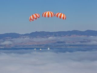 New Private Space Capsule Passes Big Drop Test