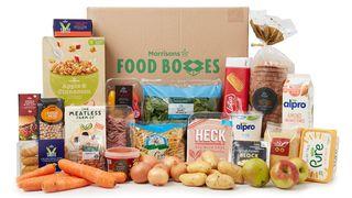 Morrisons vegan essentials food box