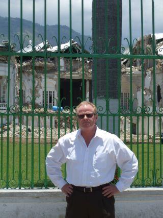 SWS CEO George Dickson in post-earthquake Haiti.