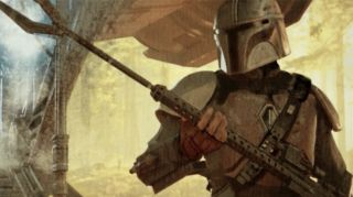 A still of The Mandalorian Episode 4 concept art The concept artwork by Christian Alzmann, shown at the end of each episode. It's gorgeous, hopefully it will be available as a collection.