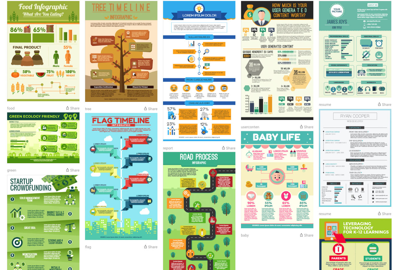 Infographics tools: Ease.ly