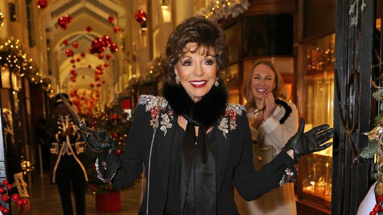 Joan Collins— Dame Joan Collins attends the Burlington Arcade Christmas Lights switch on at Burlington Arcade on December 5, 2020 in London, England.