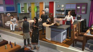 The Sims 4 värikkäässä huoneessa