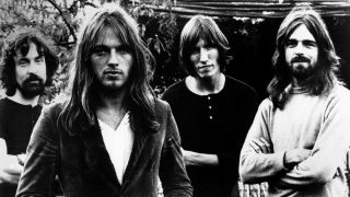 A picture of Pink Floyd's Nick Mason, David Gilmour, Roger Waters and Rick Wright in 1972