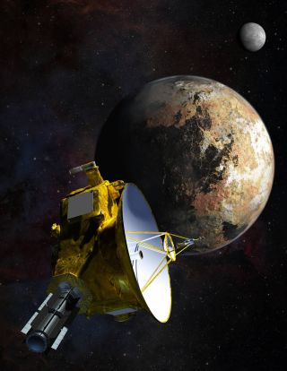 Artist's Concept of New Horizons at Pluto