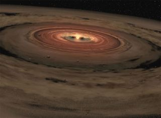 Water Vapor Hints at Planets Forming Around Nearby Stars
