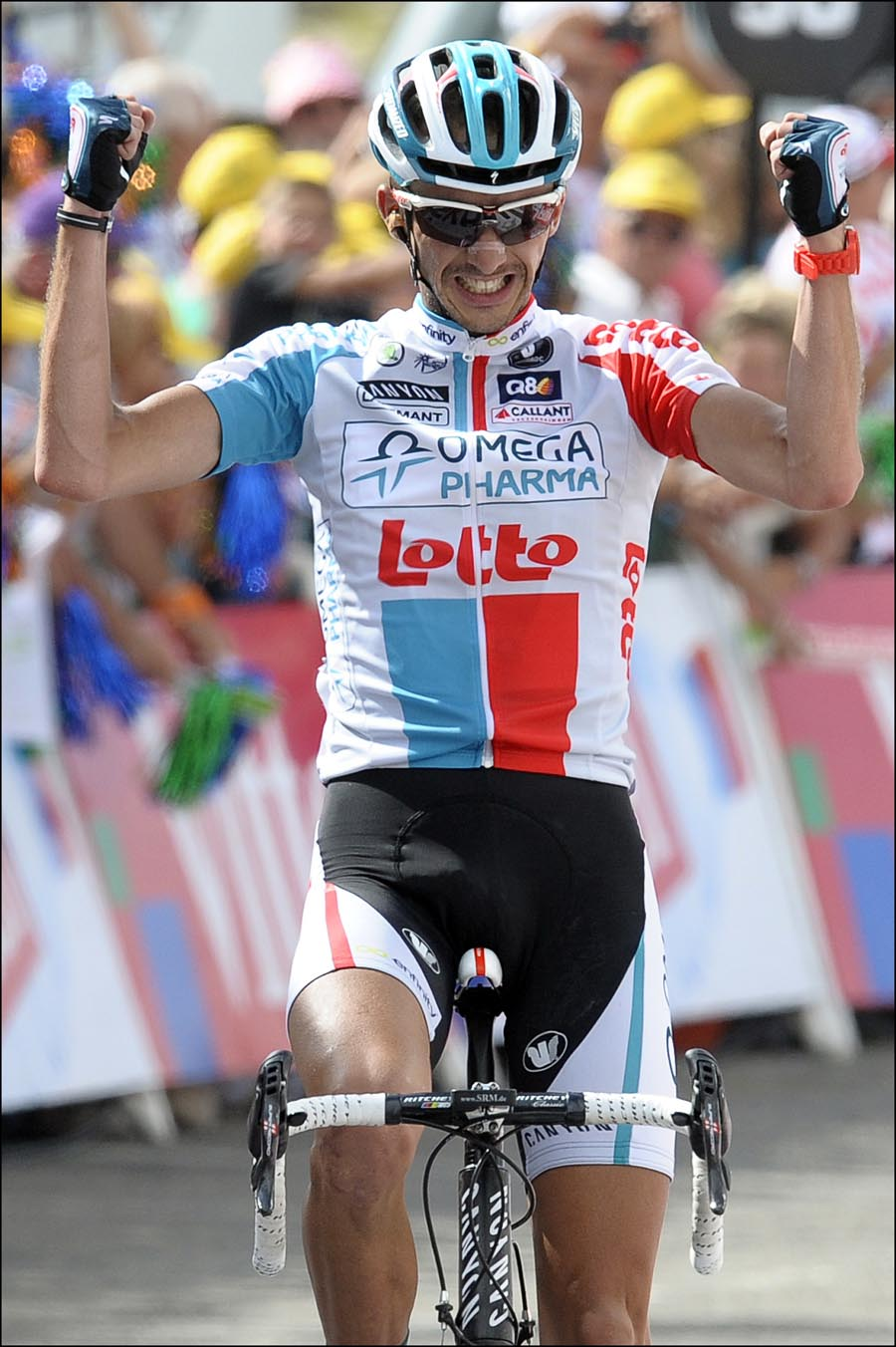 Jelle Vanendert wins, Tour de France 2011, stage 14