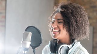 Singer in the studio