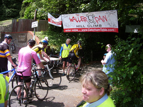 Start line, Waller Pain hillclimb 2010