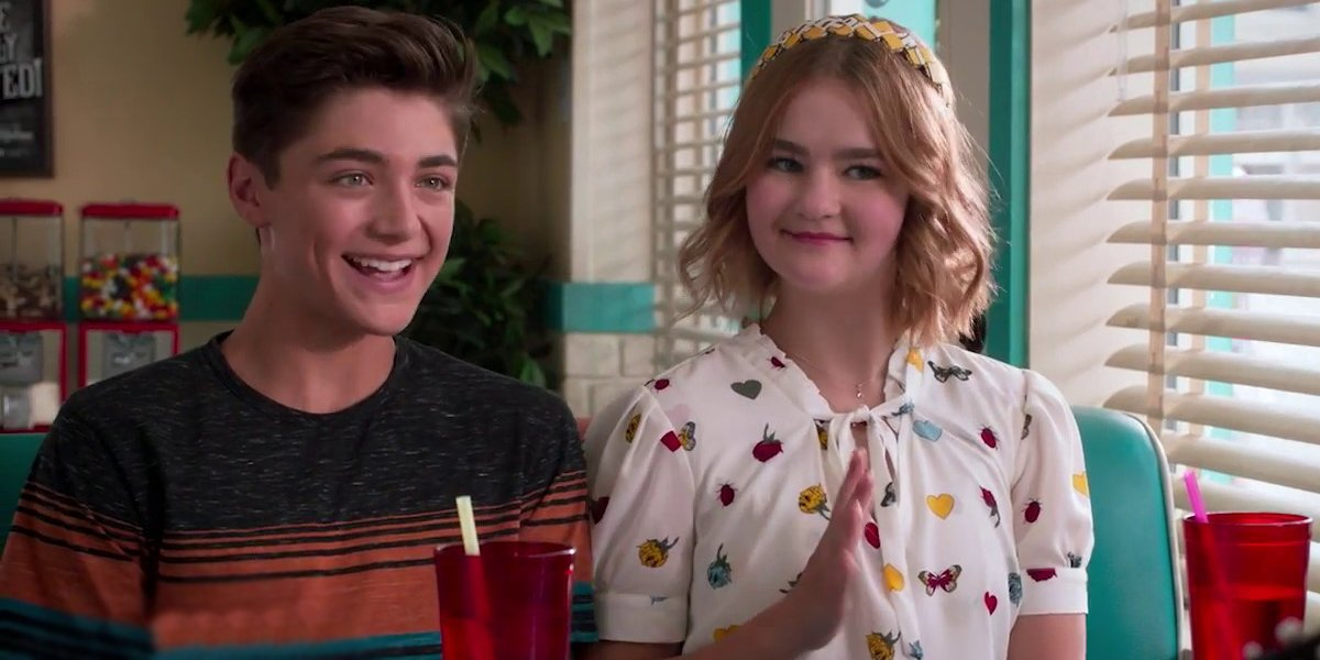 Asher Angel and Millicent Simmonds on Andi Mack