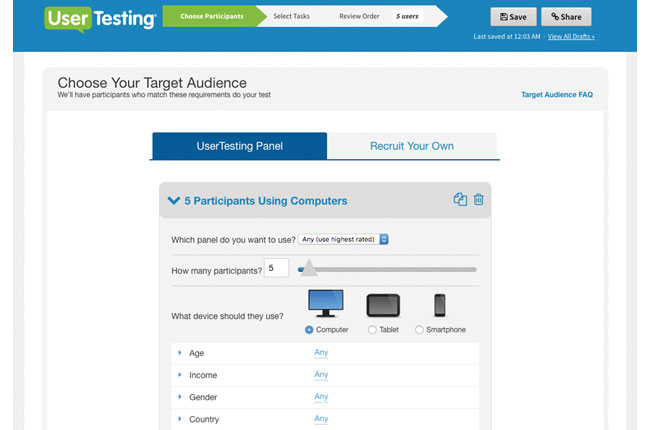 user testing. com