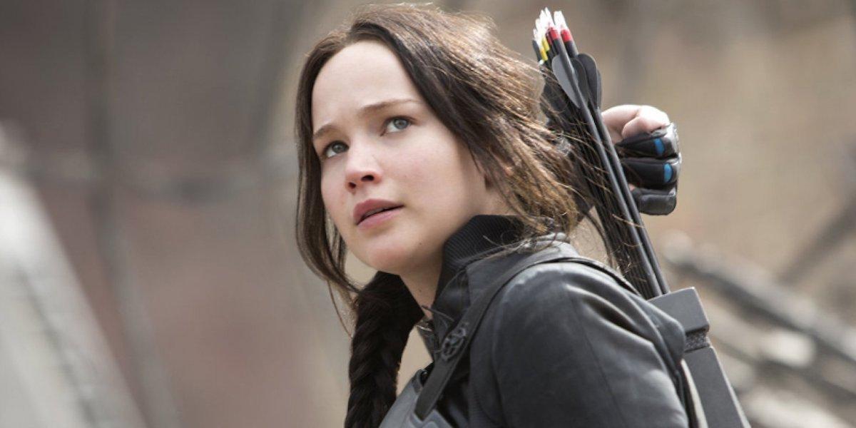 Jennifer Lawrence as Katniss Everdeen in Hunger Games Mockingjay