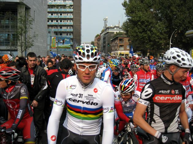 Thor Hushovd, World Champion,Tour of Lombardy 2010