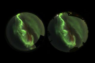 Timelapse images of an aurora