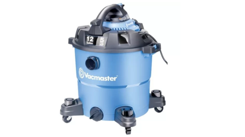 A blue Vacmaster vacuum cleaner