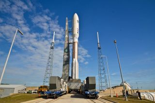 Atlas 5 Rocket Carrying MUOS-1 Satellite