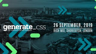 Generate CSS – the conference for web designers: 26 September, Rich Mix, Shoreditch, London