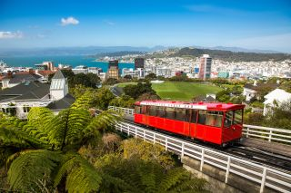 The city of Wellington, New Zealand is pictured in this photo.