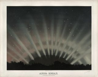 An image of the aurora as observed in 1872.