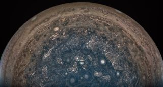 Juno Sees Jupiter's South Pole