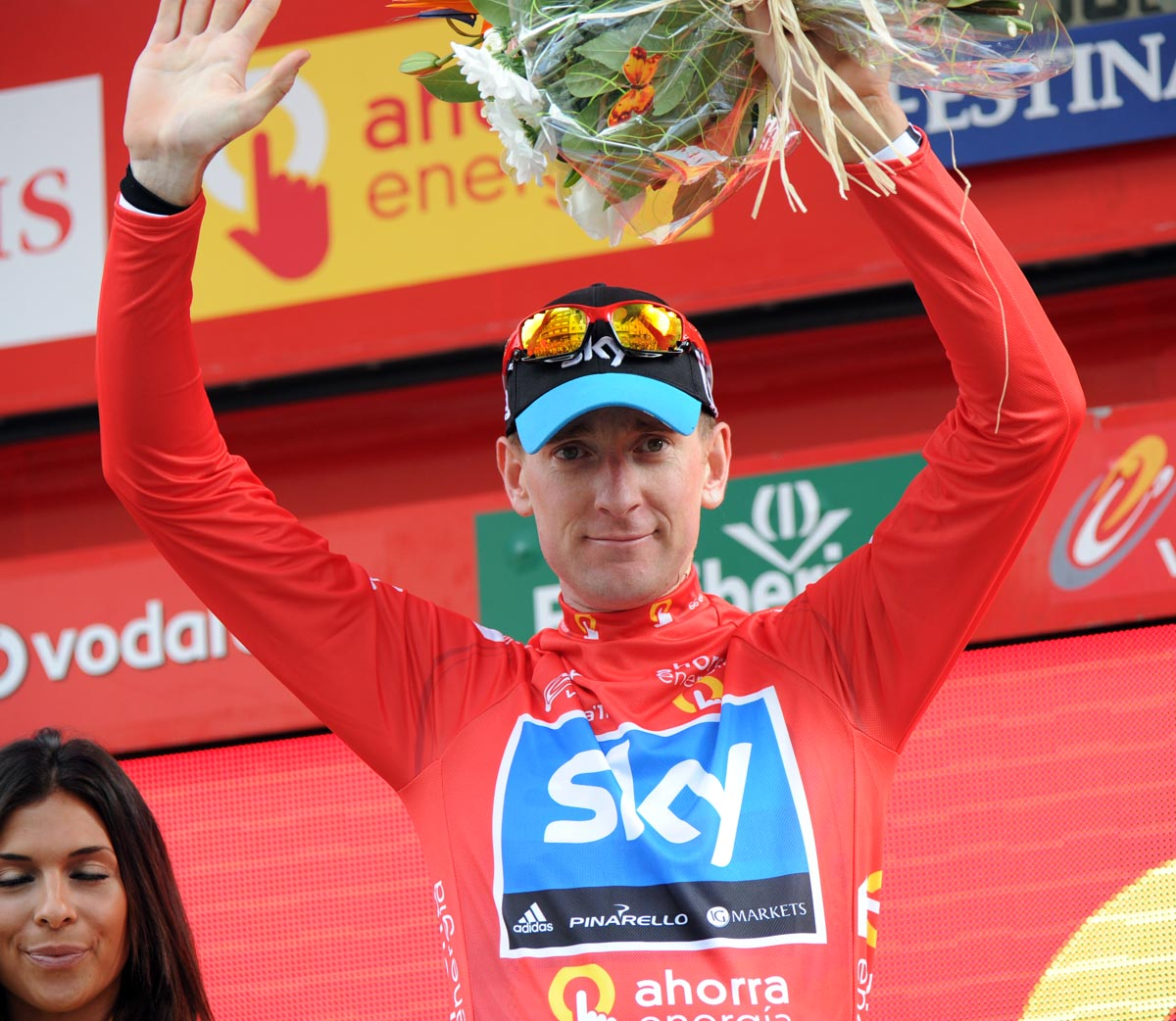 Bradley Wiggins in lead, Vuelta a Espana 2011, stage 12