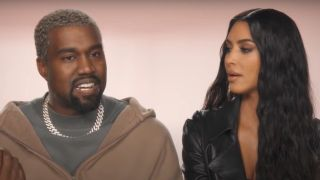 Kim Kardashian and Kanye West in Keeping Up with the Kardashians