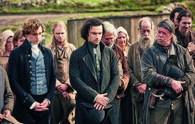 Ross and co set sail for an action-packed adventure in France this week in Poldark