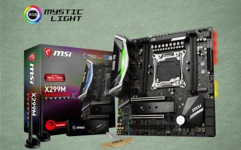 MSI Performance Gaming Intel X299 LGA 2066 DDR4 USB 3.1 SLI Micro ATX Motherboard X299M Gaming PRO Carbon AC