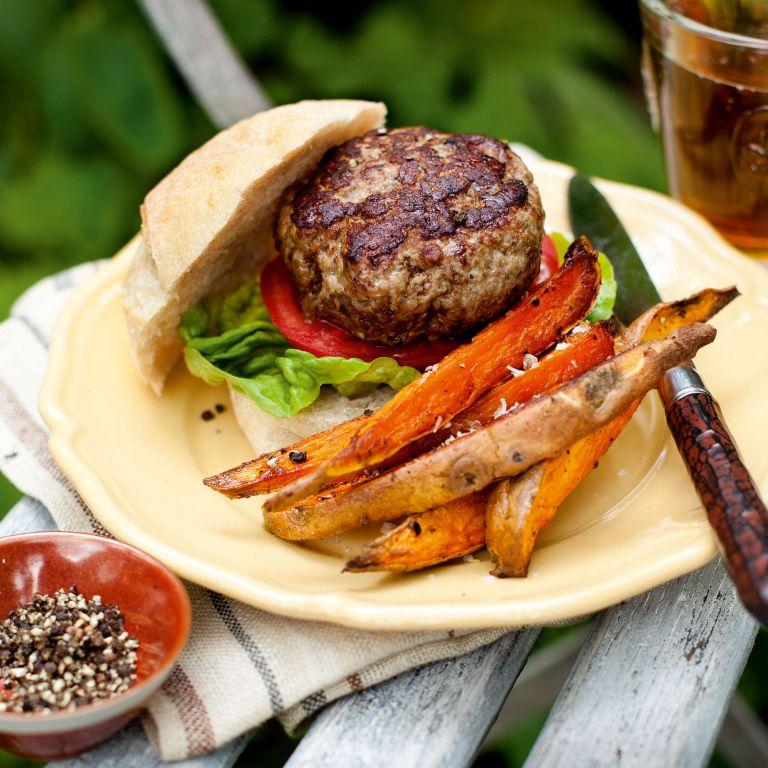 A really good burger-summer recipes-woman and home