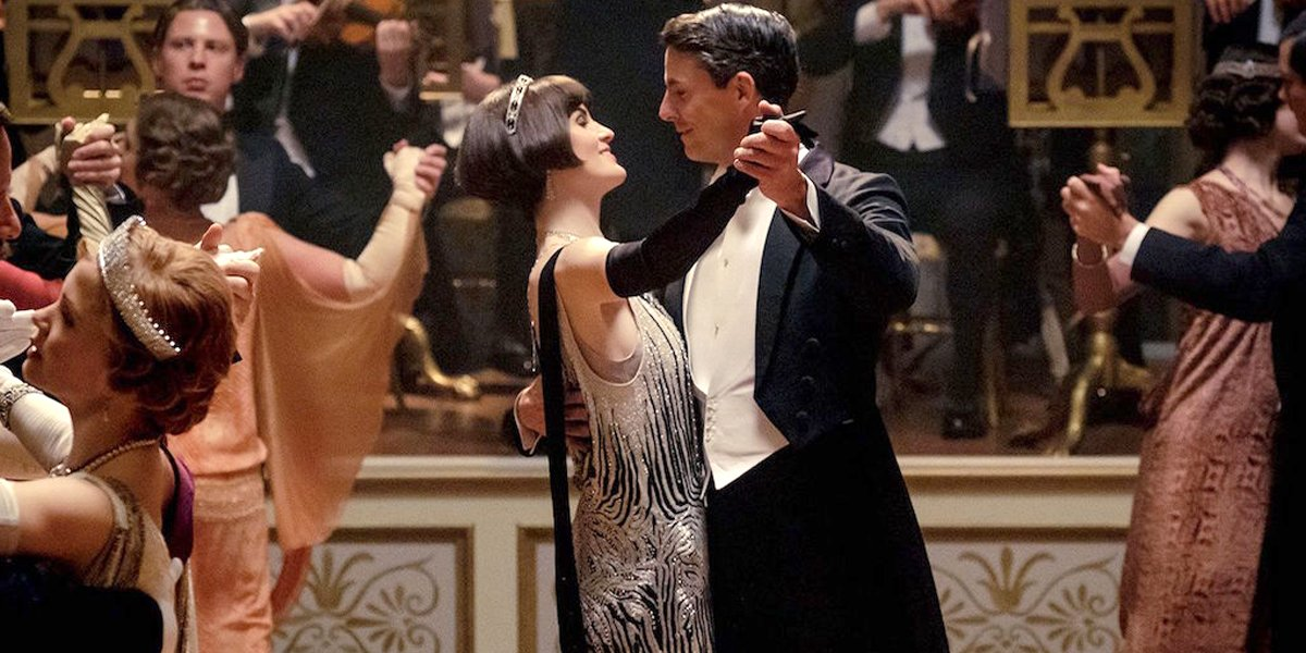 Mary and Henry Talbot share a dance in the Downton Abbey movie