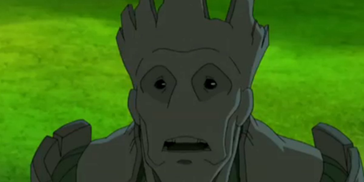 Groot on the animated Guardians of the Galaxy series