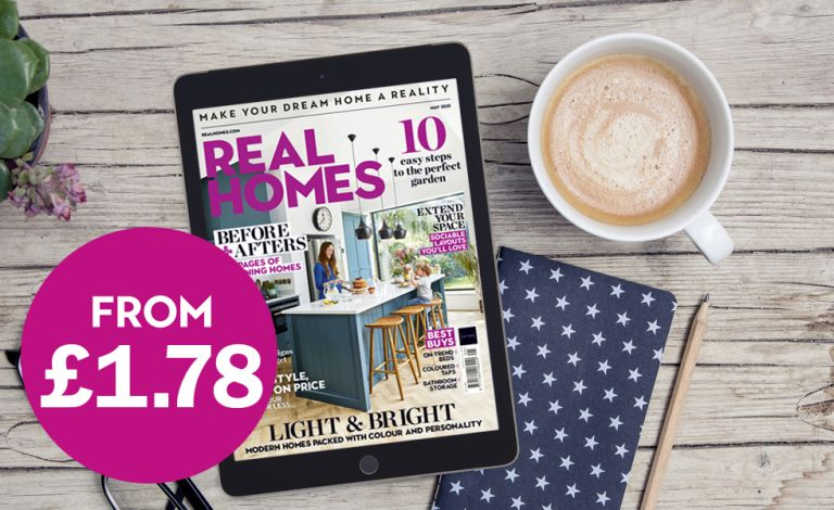 Cover of Real Homes magazine on an iPad