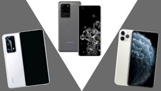 Huawei P40 Pro Plus, Galaxy S20 Ultra and iPhone 11 Pro Max