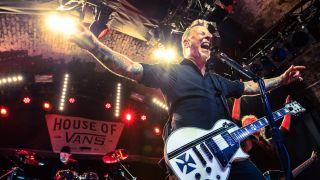 A shot of Metallica at House Of Vans