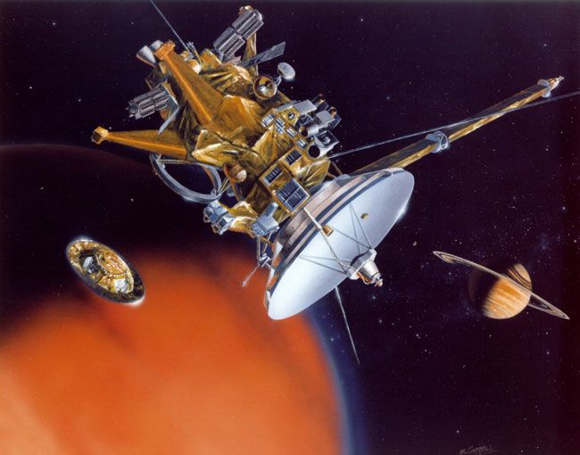 On This Day in Space! Dec. 25, 2004: Cassini Spacecraft Deploys Huygens Probe Above Titan - Space.com