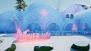 Fortnite The Workshop, Shiver Inn, and Ice Throne