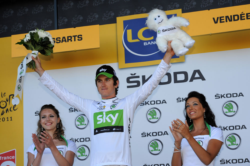 Geraint Thomas, best young rider, Tour de France 2011 stage two TTT