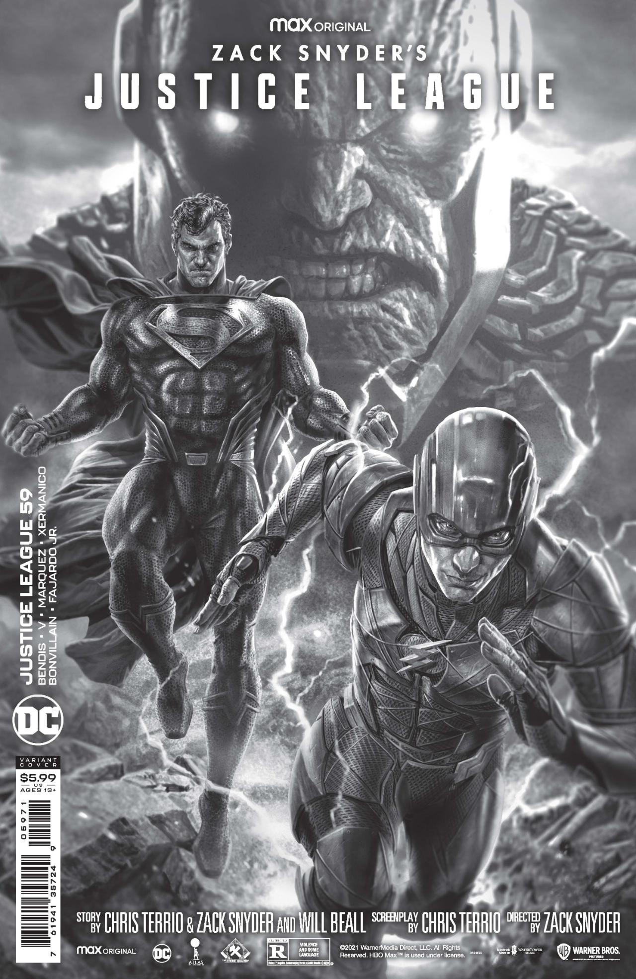 Cubiertas variantes de la Liga de la Justicia de Zack Snyder