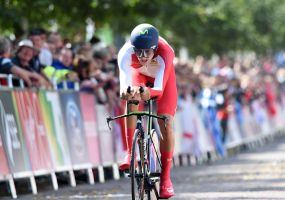 Alex Dowsett finishes CWG ITT