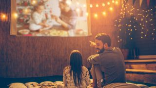 How to make an outdoor movie theater for the Holidays