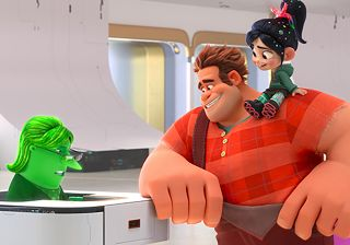 Ralph and Vanellope explore the big world wide web