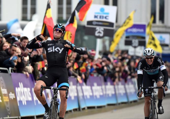 Ian Stannard (Team Sky) retains his Omloop Het Nieuwsblad crown