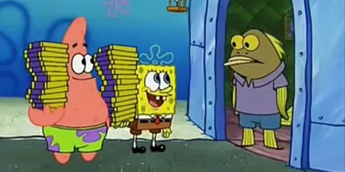 Spongebob, Patrick and a random citizen in Spongebob Squarepants.