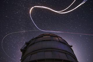 skydivers during Perseid meteor shower