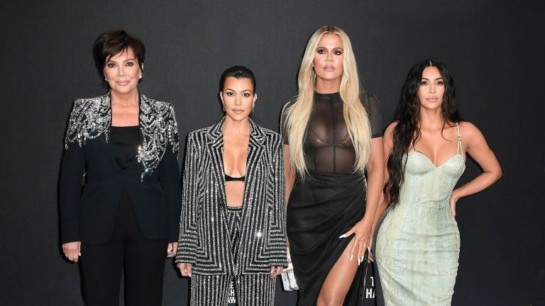 Kris Jenner, Kourtney Kardashian, Khloé Kardashian and Kim Kardashian attend`Kim Kardashian the 2019 E! People's Choice Awards at Barker Hangar in Santa Monica California