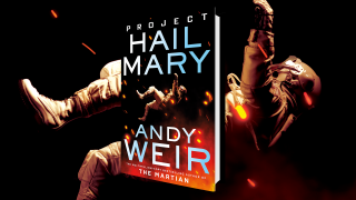 The cover of Project Hail Mary.